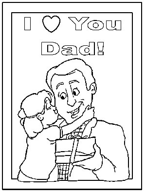 Father's Day Coloring Pages and Tracer Pages