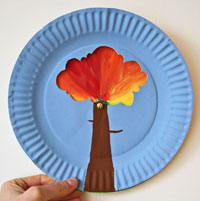 Fall Colour Changing Tree Craft
