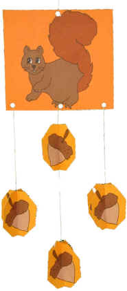 3D squirrel paper craft