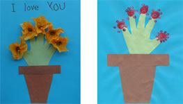 Flowerpot handprint craft for kids