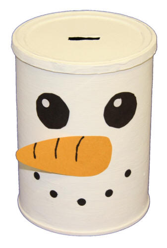 Coffee Can Snowman