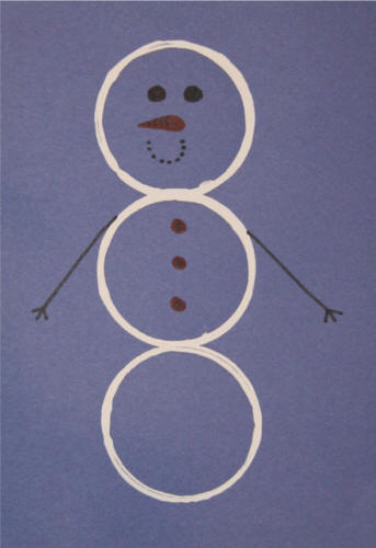 Paper Cup Circle Snowman