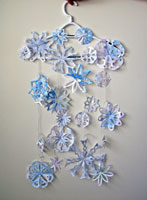 bubble painted snowflakes paper craft