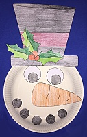 frosty the snowman paper plate craft