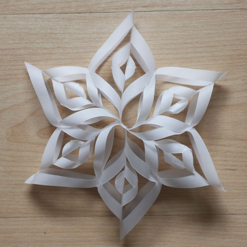 3d paper snowflake craft